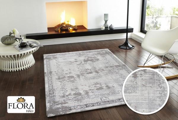 Flora Elit Collection Teppich Polyacryl | Grau