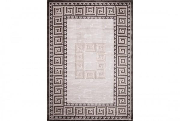 Flora Eleysa Collection Teppich | Polypropylen | Lurex Heatset | Grau Schwarz White Mink