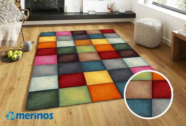 Merinos | Patchwork Teppich | Multi | Beige | M-22605-20415