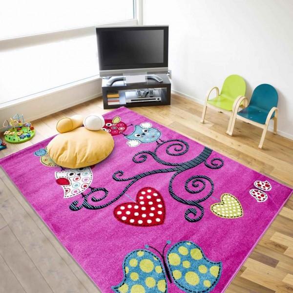 Ayyildiz Smiling Face Teppiche | Kids | Kinderteppich | Pink