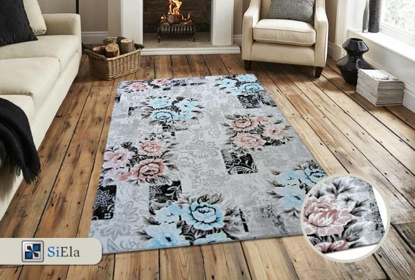 Siela Cast Light Teppich | Grau