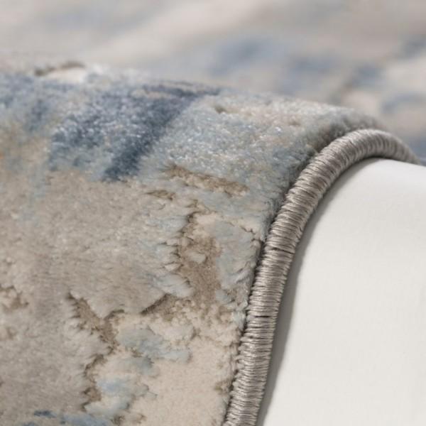 Obsession Swan Times Teppich | Silber Grün Ziegelrot Lavendel Blau Taupe