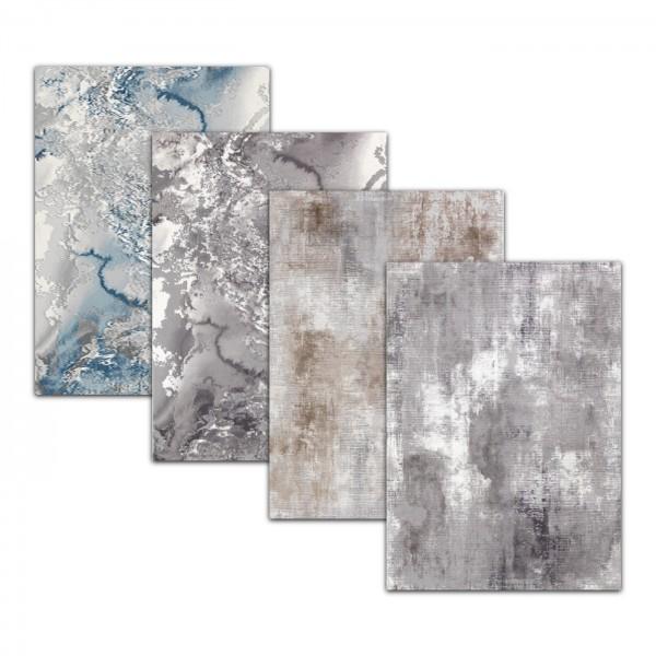 Merinos | Therapy | Moderne Teppich | Blau & Beige & Gray