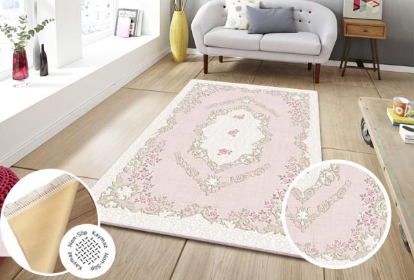 Siela | Waschbarer Teppich | Latex | 100% Polyester | Pink | S-1610-Pink