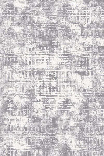 Dinarsu Queen City Teppich | Grau