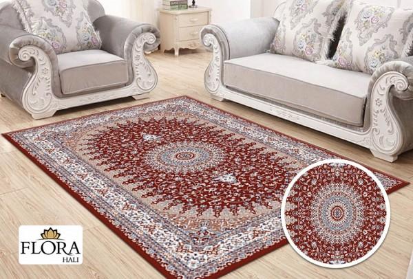 Flora Samarkand Collection Teppich Polypropylen Heatset | Rot Creme