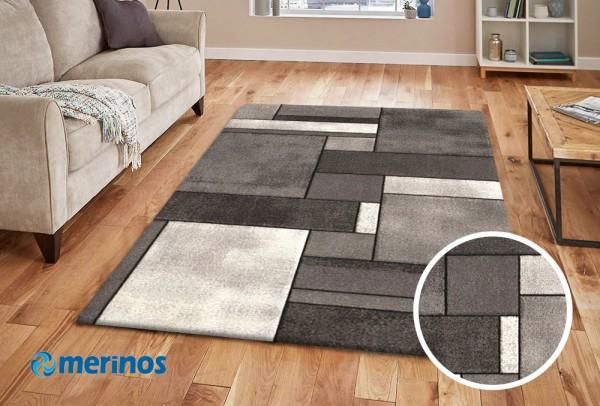 Merinos New Day Teppich | Beige Grau