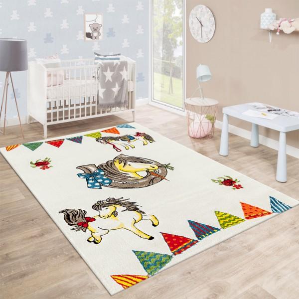 Festival Rainbow Line Teppiche | Kinderteppich | Polypropylen | Beige